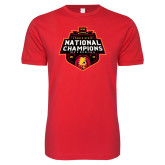 Next Level SoftStyle Red T Shirt-2018 NCAA Mens Basketball National Champions