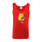 Red Tank Top-Bulldog Head