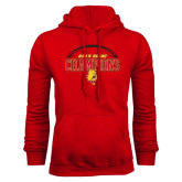 Red Fleece Hoodie-2015 GLIAC Football Champions