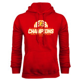 Red Fleece Hoodie-Back-to-Back-to-Back GLIAC Champions Volleyball