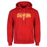 Red Fleece Hoodie-2017 Volleyball Champions