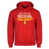 Red Fleece Hoodie-2018 NCAA Mens Basketball National Champions - Brush