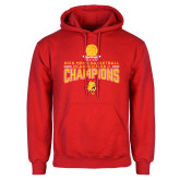 Red Fleece Hoodie-2018 NCAA Mens Basketball National Champions - Stacked