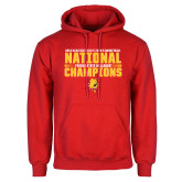 Red Fleece Hoodie-2018 NCAA Mens Basketball National Champions - Bar