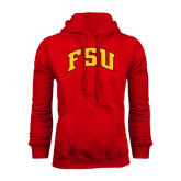 Red Fleece Hoodie-Arched FSU