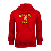 Red Fleece Hoodie-Bulldogs Est. 1884 Arched