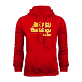 Red Fleece Hoodie-Bulldogs Est. 1884 Stacked