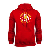 Red Fleece Hoodie-Volleyball Ball w/ Stars