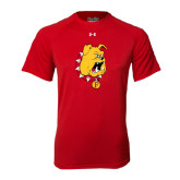 Under Armour Red Tech Tee-Bulldog Head