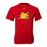 Under Armour Red Tech Tee-Bulldog Head Peeking