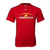 Under Armour Red Tech Tee-Ferris State Football Horizontal