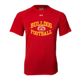 Under Armour Red Tech Tee-Bulldog Football Arched