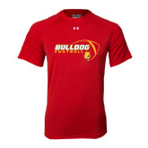 Under Armour Red Tech Tee-Bulldog Football Flat w/ Ball