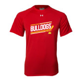 Under Armour Red Tech Tee-Bulldogs Hockey Slanted