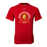 Under Armour Red Tech Tee-Hockey Circle w/ Sticks