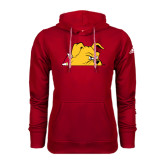 Adidas Climawarm Red Team Issue Hoodie-Bulldog Head Peeking