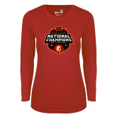 Ladies Syntrel Performance Red Longsleeve Shirt-2018 NCAA Mens Basketball National Champions