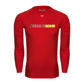 Under Armour Red Long Sleeve Tech Tee-#FerrisStrong