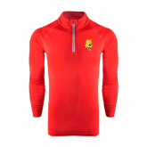 Under Armour Red Tech 1/4 Zip Performance Shirt-Bulldog Head