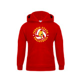 Youth Red Fleece Hood-Volleyball Ball w/ Stars