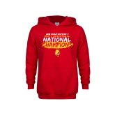 Youth Red Fleece Hoodie-2018 NCAA Mens Basketball National Champions - Brush