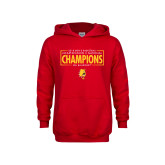 Youth Red Fleece Hoodie-2018 NCAA Mens Basketball National Champions - Box