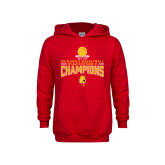 Youth Red Fleece Hoodie-2018 NCAA Mens Basketball National Champions - Stacked
