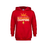 Youth Red Fleece Hoodie-2018 NCAA Mens Basketball National Champions - Basketball