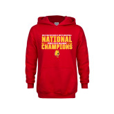 Youth Red Fleece Hoodie-2018 NCAA Mens Basketball National Champions - Bar