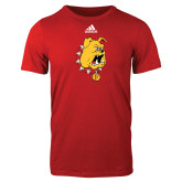Adidas Red Logo T Shirt-Bulldog Head