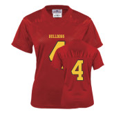 Ladies Red Replica Football Jersey-#4