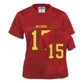 Ladies Red Replica Football Jersey-#15