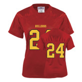 Ladies Red Replica Football Jersey-#24