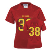 Ladies Red Replica Football Jersey-#38