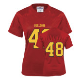 Ladies Red Replica Football Jersey-#48