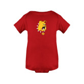Red Infant Onesie-Bulldog Head