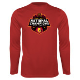 Performance Red Longsleeve Shirt-2018 NCAA Mens Basketball National Champions