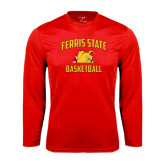 Performance Red Longsleeve Shirt-Basketball
