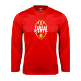 Performance Red Longsleeve Shirt-Ferris State Football Tall