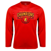 Performance Red Longsleeve Shirt-Back-to-Back GLIAC Champions Mens Basketball 15-16
