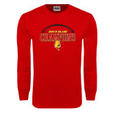 Red Long Sleeve T Shirt-2015 GLIAC Football Champions