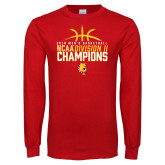 Red Long Sleeve T Shirt-2018 NCAA Mens Basketball National Champions - Basketball