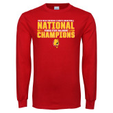 Red Long Sleeve T Shirt-2018 NCAA Mens Basketball National Champions - Bar