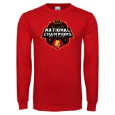 Red Long Sleeve T Shirt-2018 NCAA Mens Basketball National Champions