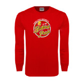 Red Long Sleeve T Shirt-Bulldog Pride