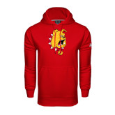 Under Armour Red Performance Sweats Team Hood-Bulldog Head