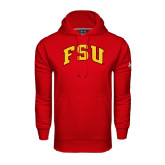 Under Armour Red Performance Sweats Team Hoodie-Arched FSU