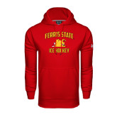 Under Armour Red Performance Sweats Team Hood-Ice Hockey
