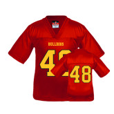 Youth Replica Red Football Jersey-#48
