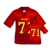 Youth Replica Red Football Jersey-#71